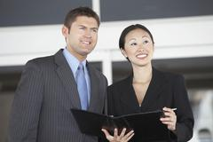 Business Colleagues Looking Away - stock photo