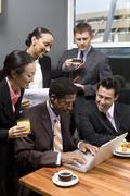 Business People On A Tea Break Stock Photos