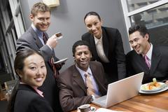 Portrait Of Multi Ethnic Business People Stock Photos