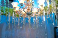 Stock Photo of crystal chandeliers