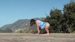 Yoga for pregnant splits Stock Footage