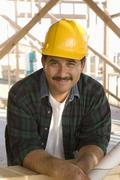 Male Architect At Construction Site Stock Photos