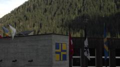 Davos,Switzerland -  congress center. Stock Footage