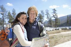 Caucasian Couple Embracing Stock Photos