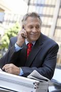 Happy Businessman On A Call Stock Photos