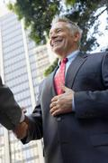 Businessman Shaking Hands With Partner Stock Photos