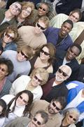 Stock Photo of Group Of People Wearing Sunglasses