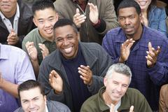 Group Of People Clapping Stock Photos