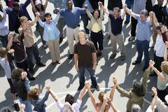 Group Of People Forming Circle Stock Photos