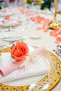 upscale tableware - stock photo
