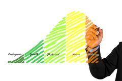 Businessman write  graph Stock Illustration