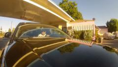 Famous Pink Motel Stock Footage