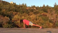 Yoga for pregnant cobra asana and triangle 2 Stock Footage