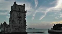 Lisbon Portugal 21 Belen Tower Stock Footage