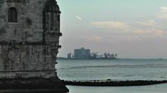 Lisbon Portugal 22 Belen Tower Stock Footage