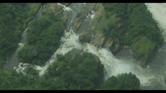 African Waterfall Aerial Stock Footage
