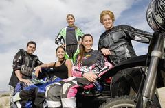 Group Of Motor Bike Riders Stock Photos