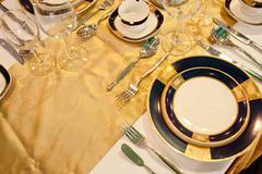 Stock Photo of upscale tableware
