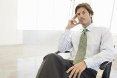 Businessman Lost In Thought - stock photo