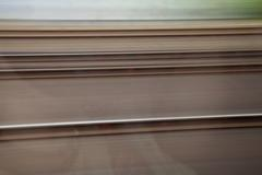 Germany, North Rhine Westphalia, view through train window during journey Stock Photos