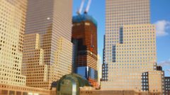 Boat Ride NYC Buildings Tilt Shift - stock footage