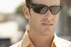 Man Wearing Sunglasses Stock Photos