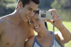 Stock Photo of Couple Taking Self Portrait