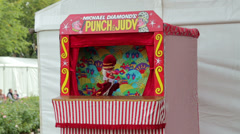 Punch and judy show Stock Footage