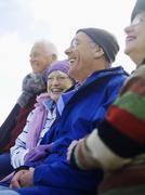 Cheerful Senior Friends Spending Time Together - stock photo
