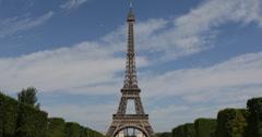 Ultra HD 4K Eiffel Tower Best Landmark Paris Champ de Mars Romantic Capital Day Stock Footage