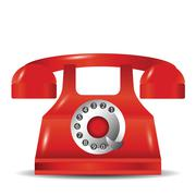 Old red phone Stock Illustration