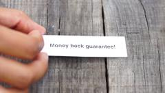 Money Back Guarantee Stock Footage