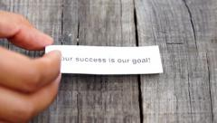 Your Success is our goal Stock Footage
