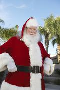 Santa Claus Standing With Hands On Hip Stock Photos