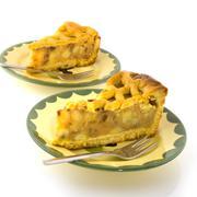 pieces of apple pie - stock photo