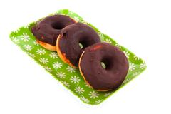 chocolate donuts - stock photo