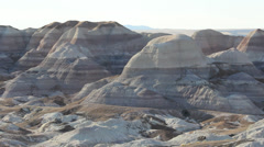 Painted Desert Hills Formations Pan Left Stock Footage