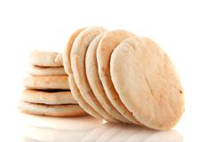 Pita flat bread Stock Photos