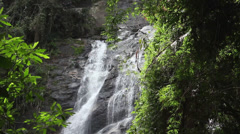 Stock Video Footage of Big Waterfall in the National Park - Rio de Janeiro