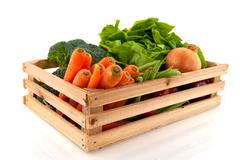crate with vegetables - stock photo