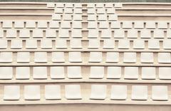 Seats in outdoor auditorium - stock photo