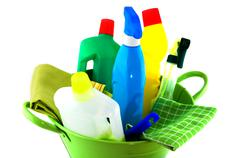 total tools for cleaning - stock photo
