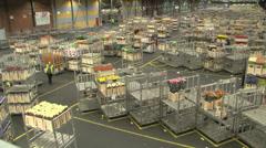 flower market auction distribution centre - stock footage