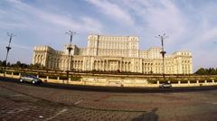 Image of the House of Parliament, also known as The People's House in the Cheauc Stock Footage