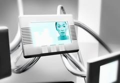 Woman On Video Conferencing Screen Stock Photos