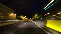 Brussels City Driving Time Lapse Stock Footage