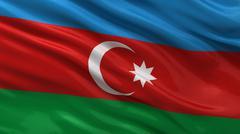 Flag of Azerbaijan Stock Illustration