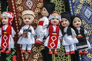 Stock Photo of dolls dressed in traditional romanian folk costumes-1