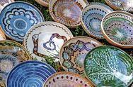 Folk pottery 12 Stock Photos