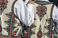 Stock Photo of traditional romanian folk costume.detail 32